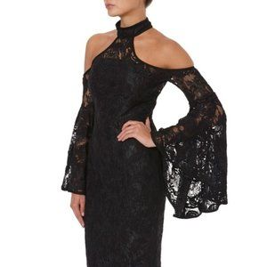 Misha Collection Poppy Lace Dress Black Sz 4